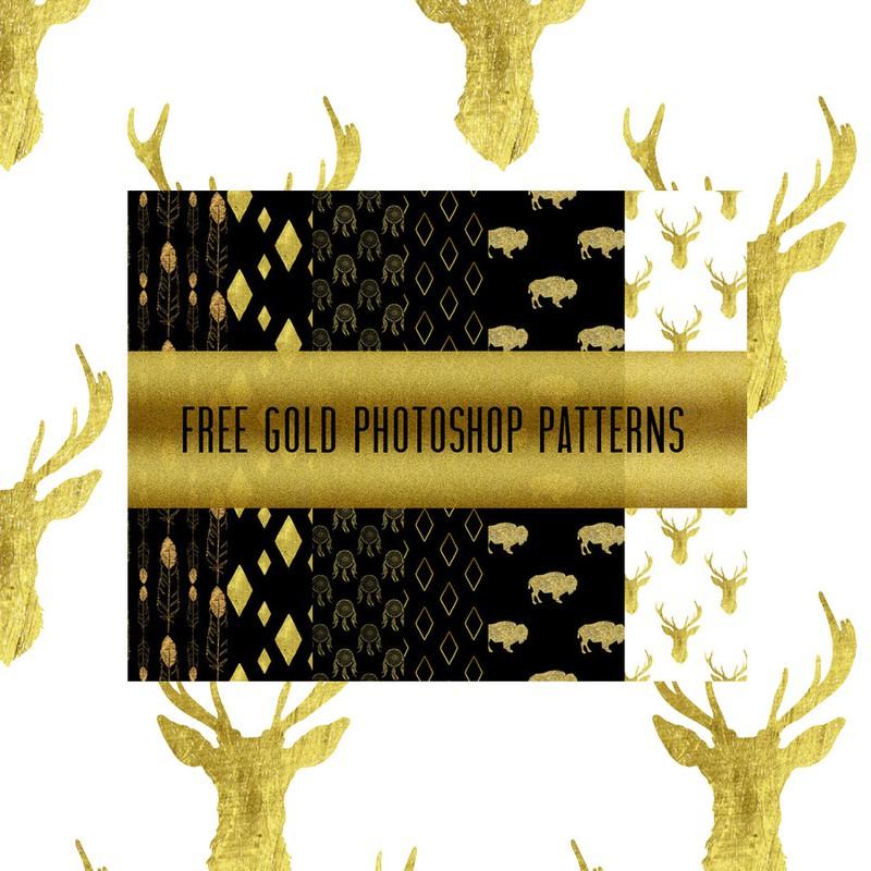 Photoshop patterns gold, patterns