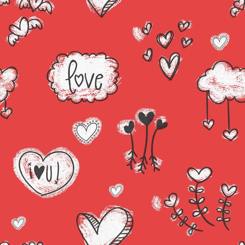 Photoshop patterns hearts, love, pattern