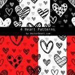 4 Heart Patterns