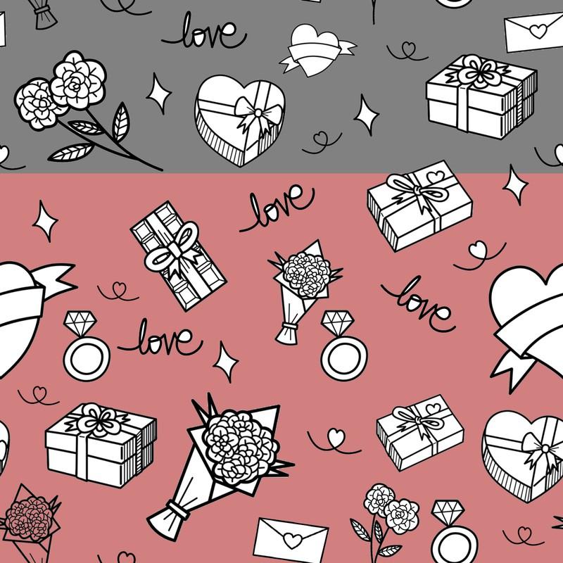Photoshop patterns Valentines pack icon