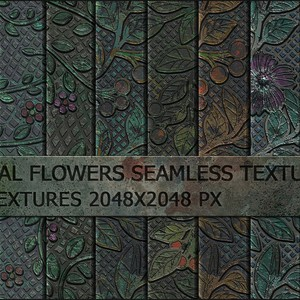 13 Metal Flowers Pattens