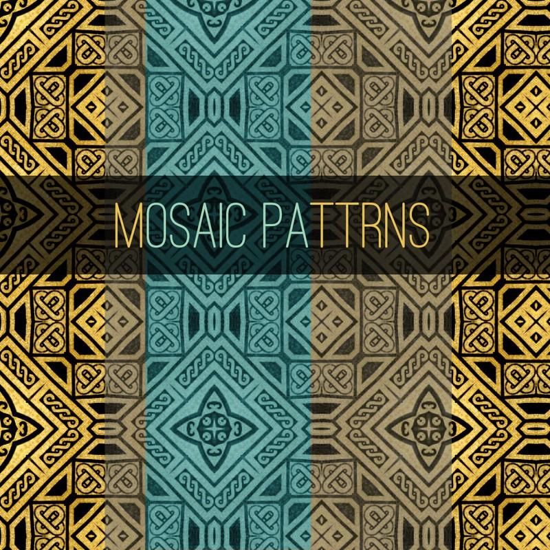 Photoshop patterns mosaic, ornament