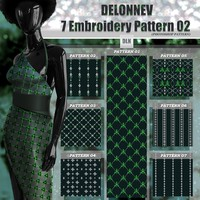 Delonnev 7 Embroidery Pattern 02