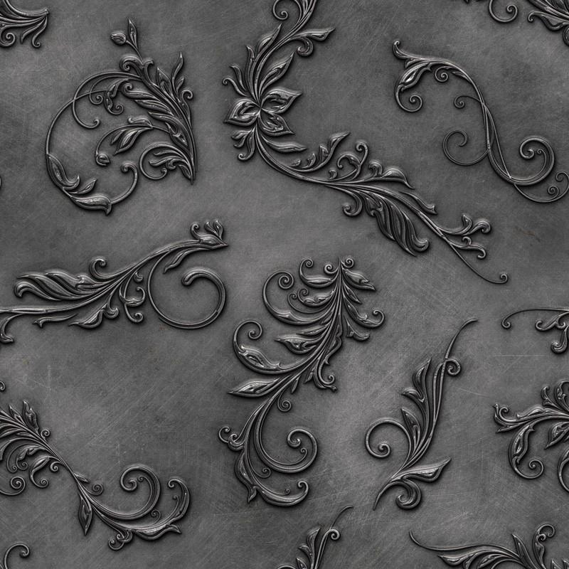 Photoshop patterns ornament, metal, pattern