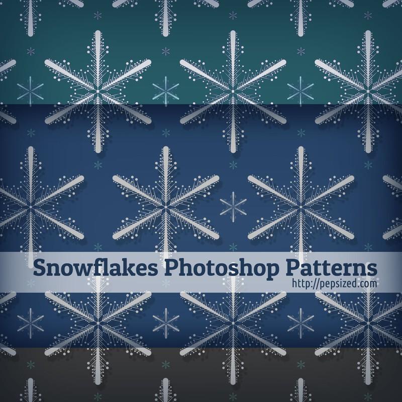 Photoshop patterns snowflakes, pattern