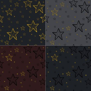Winter Stars Pattern