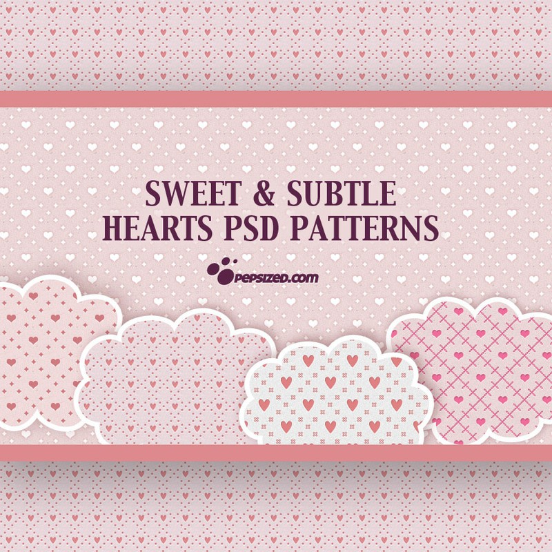 Photoshop patterns heart pattern