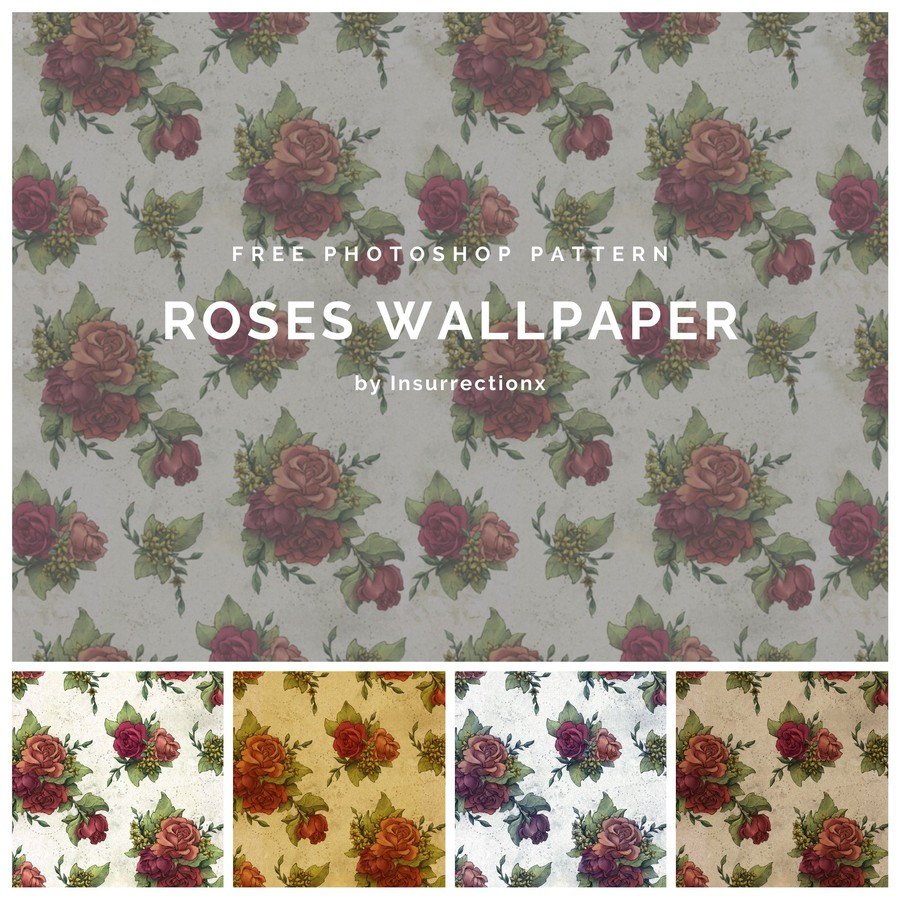Photoshop patterns wallpaper, roses, pattern
