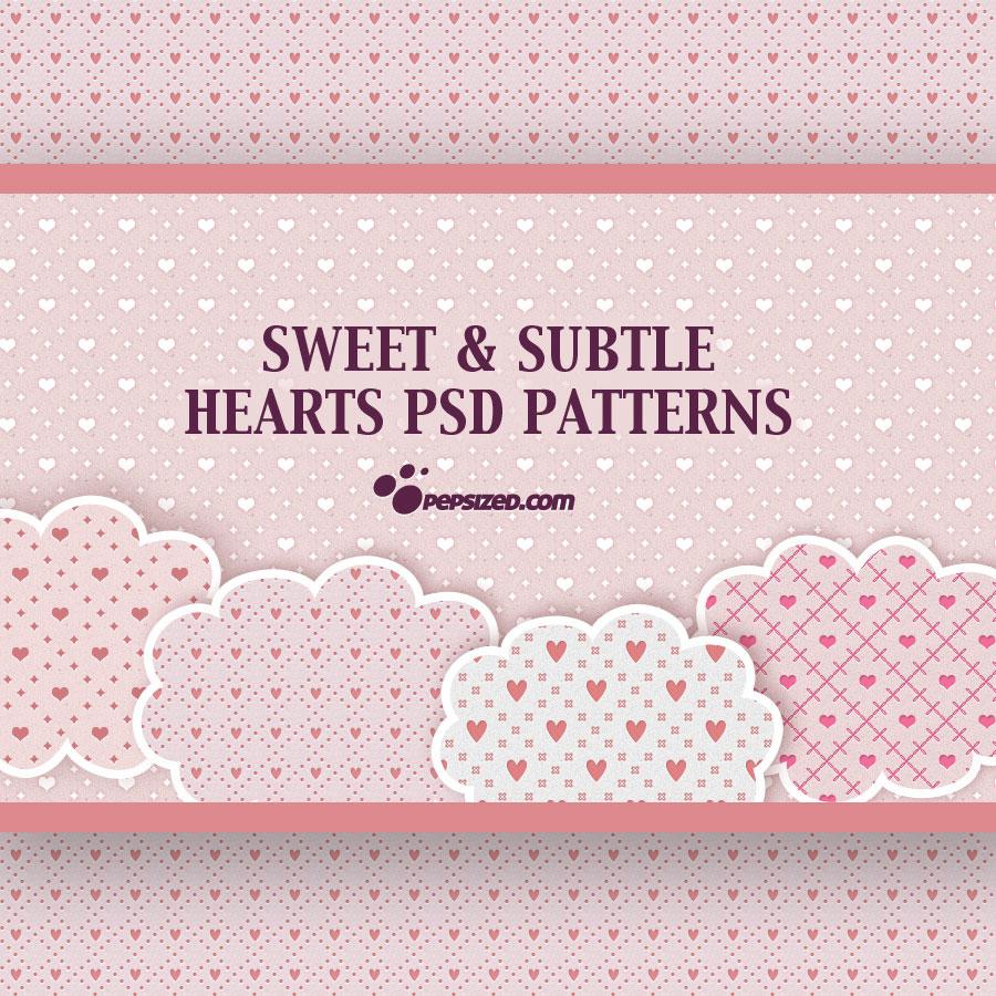 Free Hearts PSD Patterns - Photoshop - 252.9KB