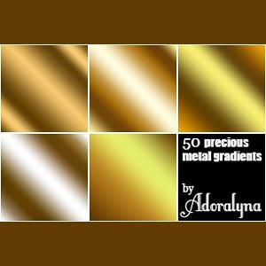 Golden Metal Gradients Photoshop Styles And Gradients