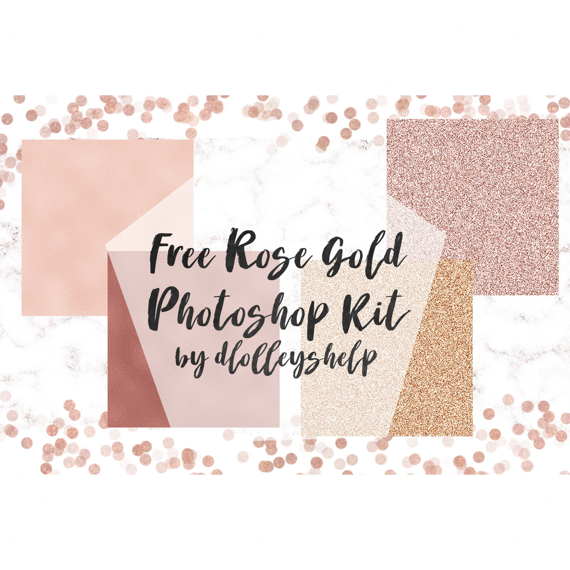 Rose Gold Glitter and Metallic - Photoshop styles and gradients