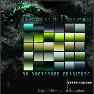 Photoshop styles and gradients green, gradients