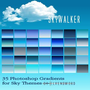 Photoshop styles and gradients blue, gradient