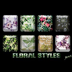 Photoshop styles and gradients floral, patterns