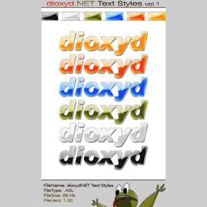 Photoshop styles and gradients text, effect