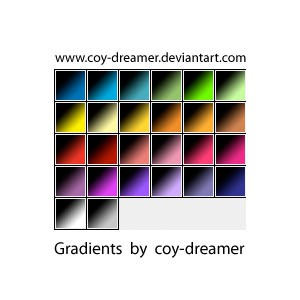 Photoshop styles and gradients gradients, collection