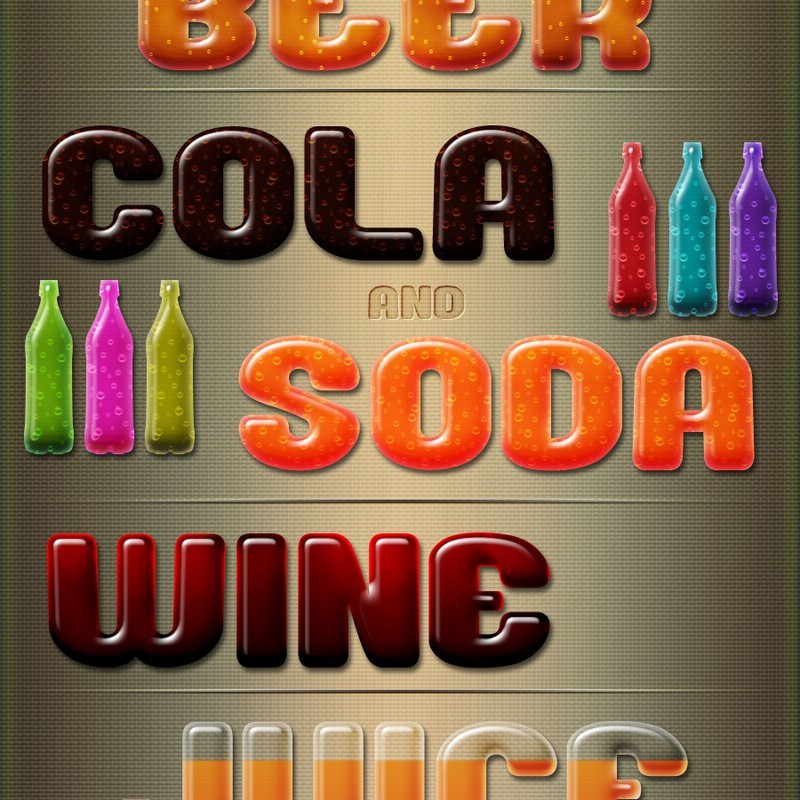 Photoshop styles and gradients beverages, drinks