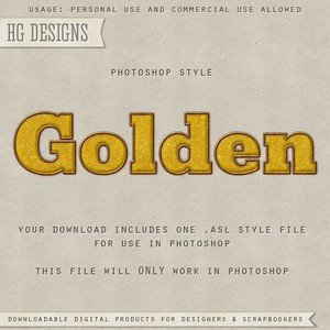 Golden Style for Photoshop