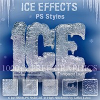Ice Effect Photoshop Styles