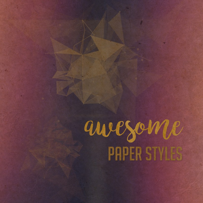 Photoshop styles and gradients old, paper