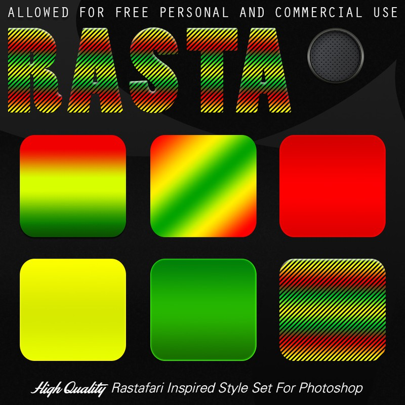 Photoshop styles and gradients rasta, gradient