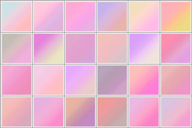 styles and gradients palette
